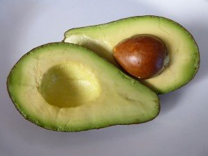 avocado with the seed showing