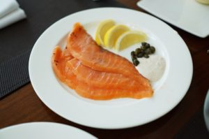 salmon on a plate nutritious
