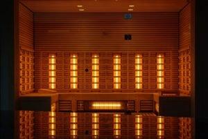 infrared sauna sweat