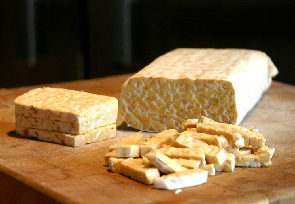 tempeh sliced healthy