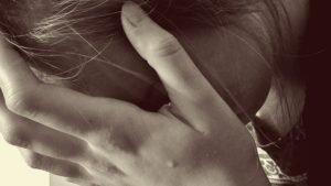 woman very depressed