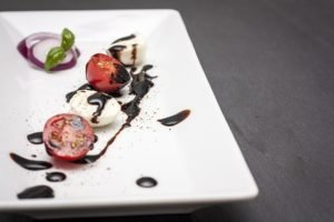balsamic vinegar on plate