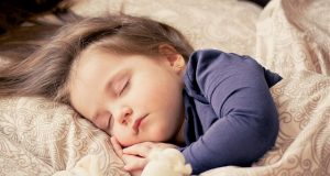 child sleeping bedtime