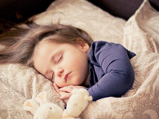 child sleeping bedtime